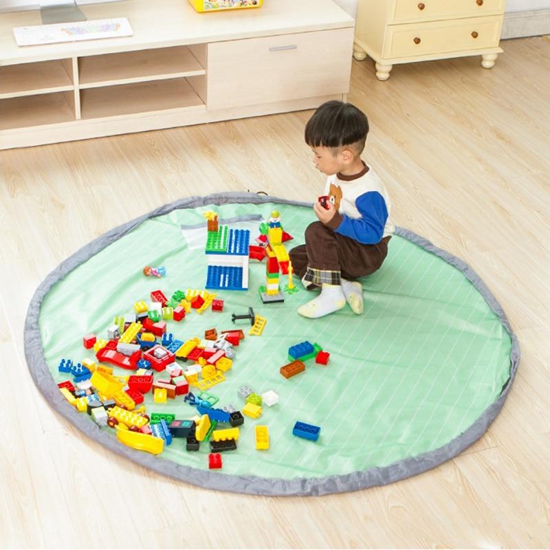 Brezplačna dostava 1.5 metrov prenosni sveže otroške igrače za shranjevanje torba in igra mat igrače organizator bin box modne praktične shranjevanje