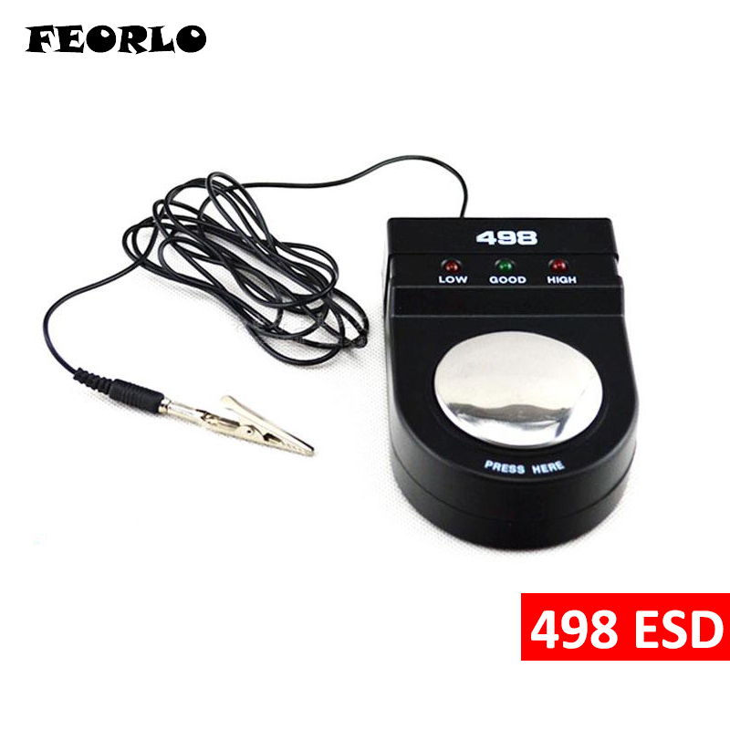 FEORLO High Quality 498 ESD Anti Static Anti-static Wrist Strap Monitor Measurement Antistatic Wrist Strap Tester