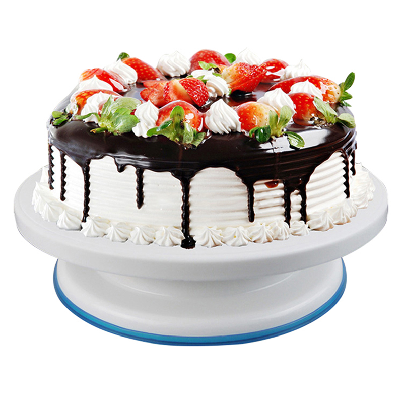27cm Cake Turntable Rotating Cake Stand Plastic Anti Skid Cake Round Stand Rotary Decorating Turntables Cake Dessert Table Stand