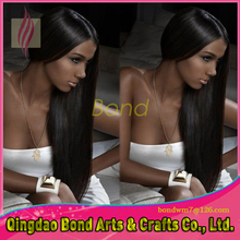 Brazilian Remy Hair 8A Grade Glueless Full Lace Human Hair Wigs Silky Straight Lace Front Wigs with Baby Hair around