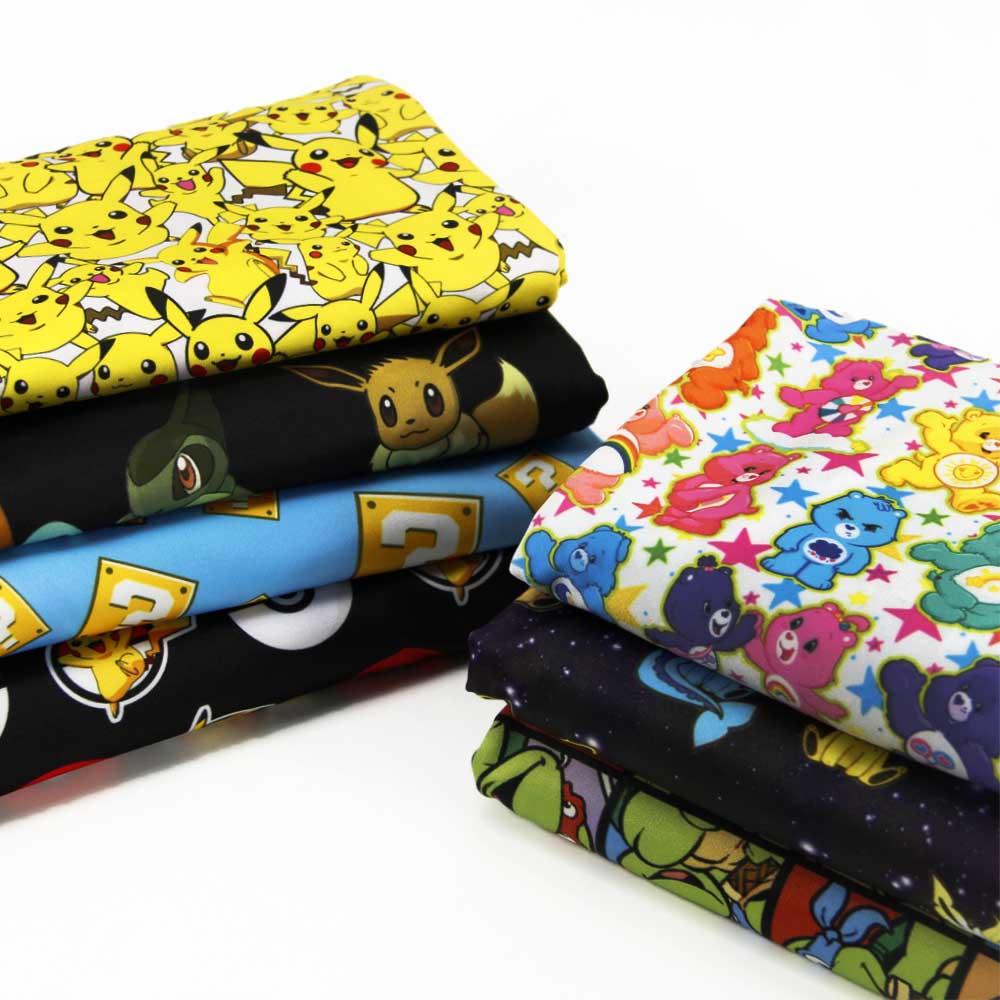 50*145 CM patchwork impresa 4 maneras stretch tejido de punto para Niños Tejido