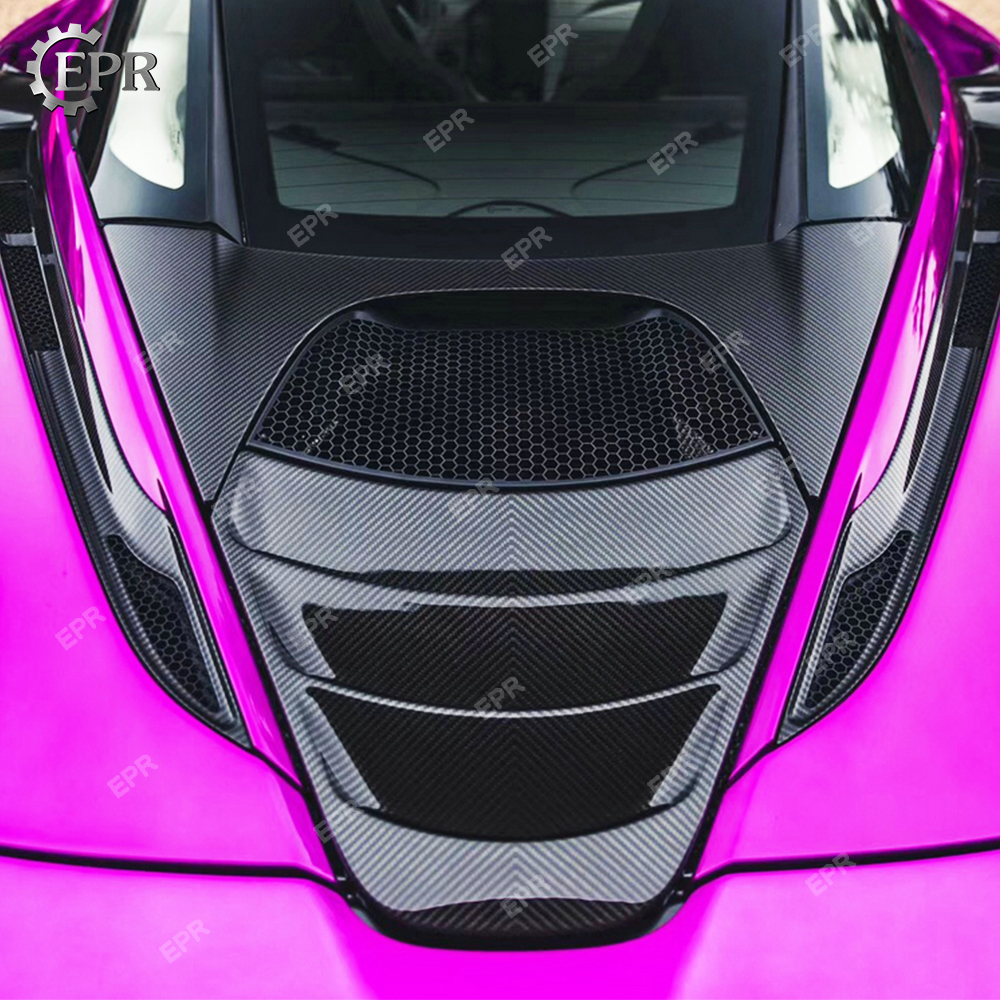 Carbon Rear Trunk Cover For Mclaren 720S 2017 Carbon Fiber Rear Trunk Vents Body kits Tuning Trim Accessories in Body Kits from Automobiles Motorcycles