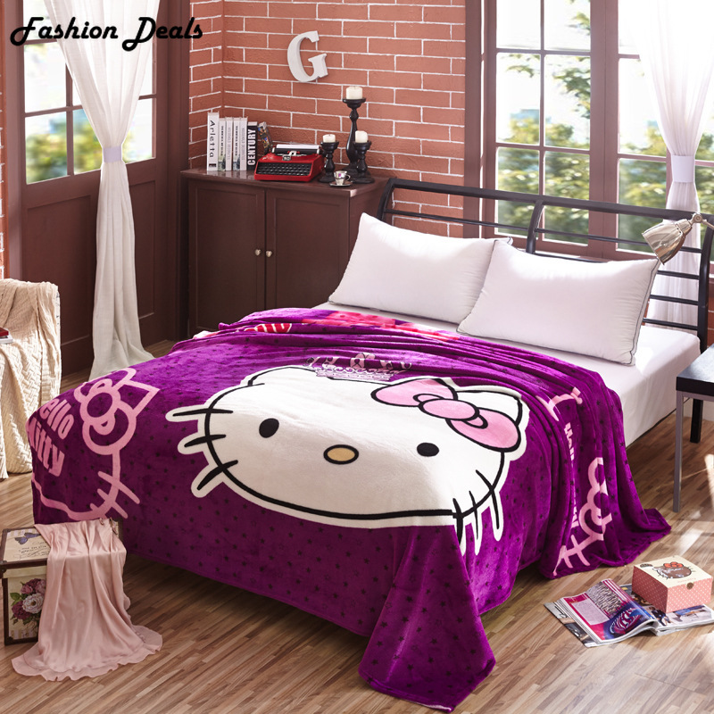 King Size 200x230cm Hello Kitty karikatúra takaró Soft Touch - Lakástextil