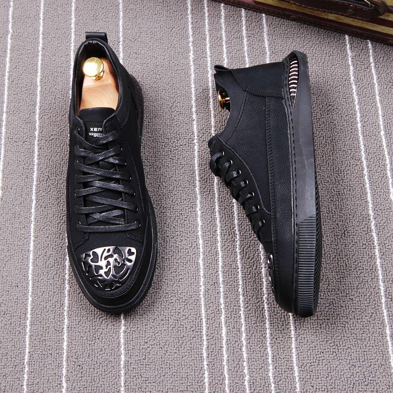 Da Panda Metal Homens Casual Low Pretos Sneakers Masculinos Dos De Moda Verão Marca Primavera Tênis Preto Fofinho Sapatos Top rwwtTSq