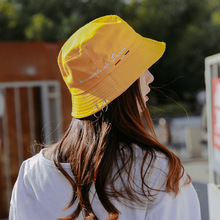 Cool Street Bucket Hat Women Yellow Outdoor Sports Hip Hop Cap Men Cotton Fishing Sun Hat Panama with Circle Ring metallic letters circle ring decorated corduroy graphic hat