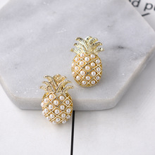 Personality Creative  Pearl Pineapple Earrings Temperament Fashion Retro studs jewelry women cute ffruit earrings