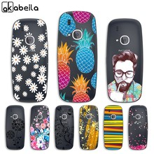 Phone Case For Nokia 3310 2017 Case Back Cover For Nokia 3310 2017 Clear Painted Silicone Cases For Nokia 3310 2017 Shells Bags(China)