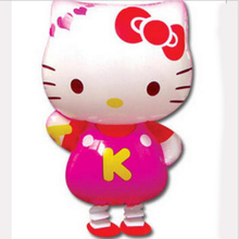 Free Shipping Hello kitty walking pet balloons,Promotional Children toys wholesales