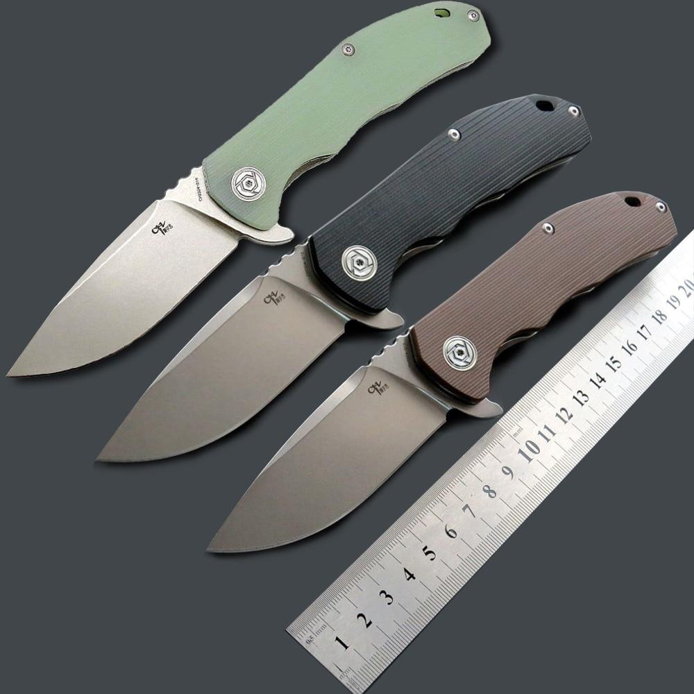 Ch 도구 ch3504 접는 나이프 d2 블레이드 g10 핸들 야외 사냥 캠핑 유틸리티 전술 컬렉션 나이프 edc 핸드 툴