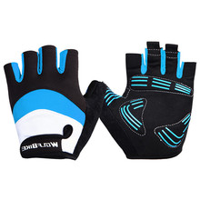 Professional Cycling Glove Motorcycle Racing Gloves Guantes Ciclismo Bike Bicycle Half Finger Genuine Motocross Mittens