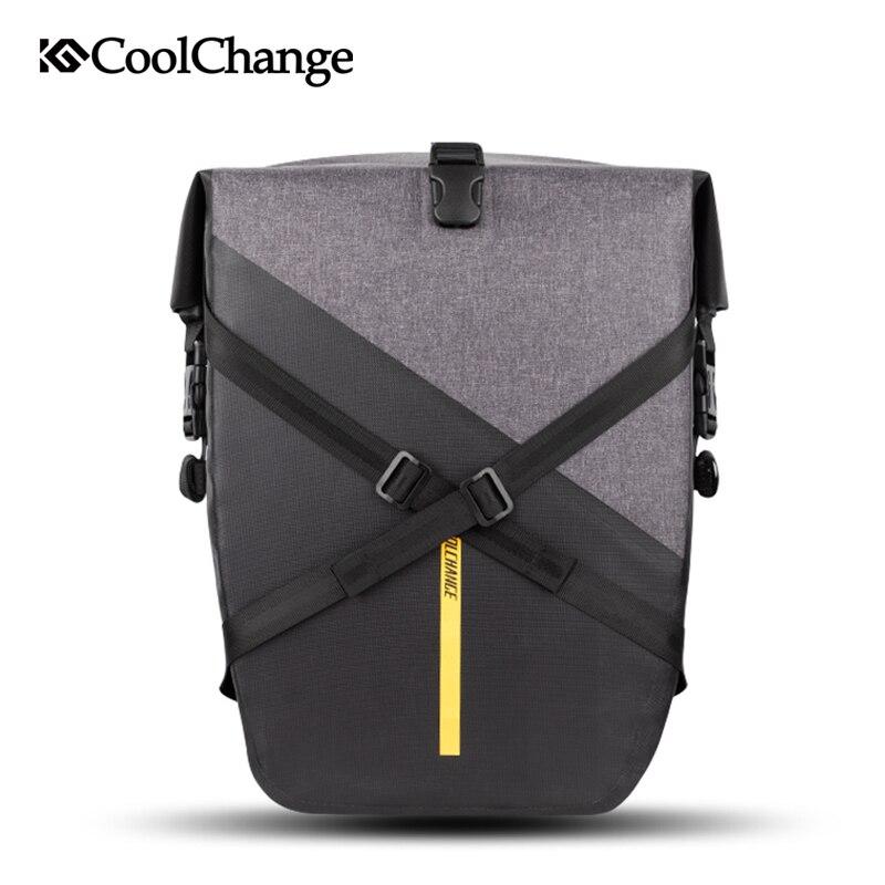 CoolChange велосипедная сумка водостойкая Светоотражающая большая емкость велосипедная багажная сумка нейлоновая задняя седельная сумка вело...