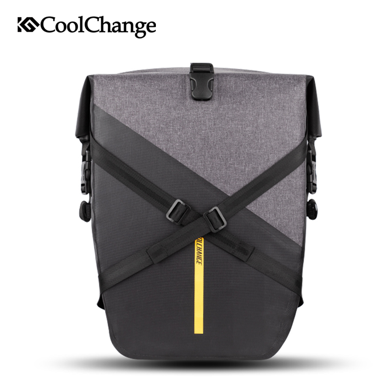 CoolChange Bicycle Bag Waterproof Reflective Large Capacity Cycling Luggage Carrier Bag Nylon Rear Saddle Bag Bike AccessoriesCoolChange Bicycle Bag Waterproof Reflective Large Capacity Cycling Luggage Carrier Bag Nylon Rear Saddle Bag Bike Accessories