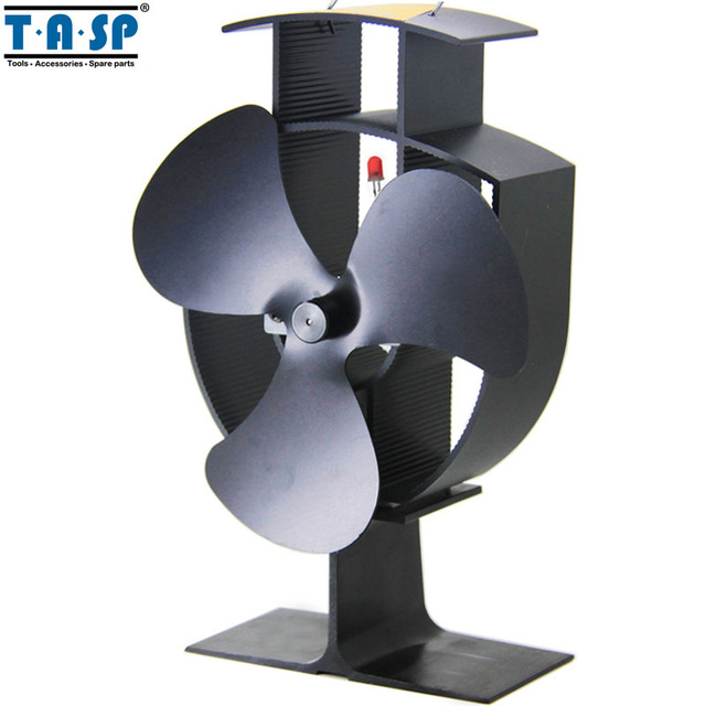 """TASP 6"""" Heat Powered Eco Stove Fan and USB Desk Fan for Wood Burning Fireplace"""
