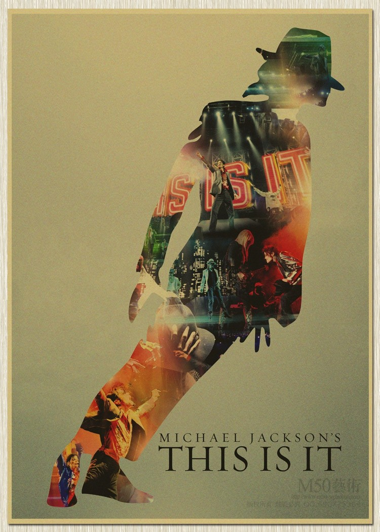 Retro Michael Jackson MJ old Poster Rock Vintage Posters ...