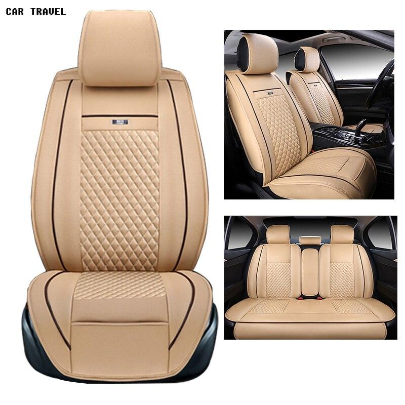 Pu en cuir Universel siège d'auto Couverture pour Toyota Corolla Camry Rav4 Auris Prius Yalis Avensis 2014 autocollant accessoires de voiture-style