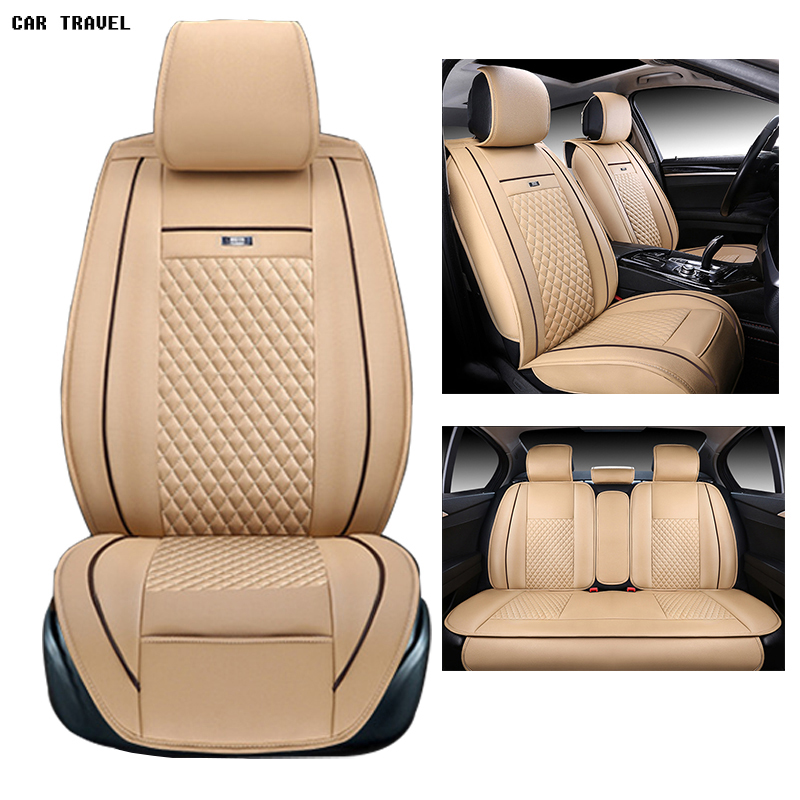 pu leather Universal car seat Cover for Toyota Corolla Camry Rav4 Auris Prius Yalis Avensis 2014 sticker accessories car-styling kalaisike leather universal car seat covers for toyota all models rav4 wish land cruiser vitz mark auris prius camry corolla