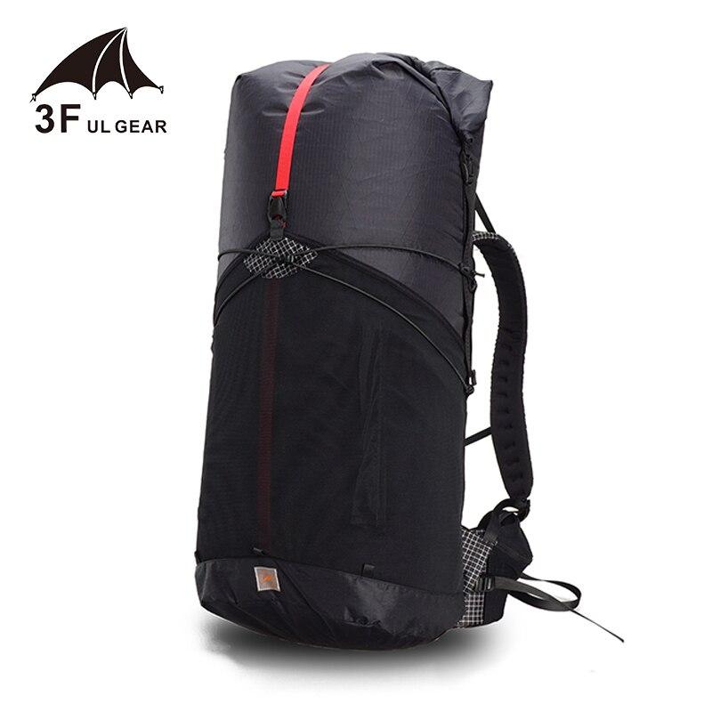 3F UL GEAR 55L XPAC UL escalade sac à dos extérieur ultra-léger cadre moins sacs léger Durable voyage Camping randonnée