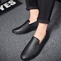 Cuero de LA PU Hombre Mocasines de Verano de la Nueva Llegada Para Hombre FashionBreathable Resbalón En los Zapatos de Conducción Ocasionales Del Holgazán Zapatos Cómodos Apartamentos