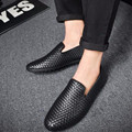 PU Leather Man Loafers Summer New Arrival Mens FashionBreathable Slip On Casual Driving Shoes Loafer Comfortable Flats Shoes