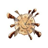 Zegary ścienne 3D Naklejka Pokoju Naklejki Ścienne Zegar Wyciszenie Milczy strona główna Wall Art Wymienny Fototapety Wystrój Ścian Biura Nóż Kuchenny strzał