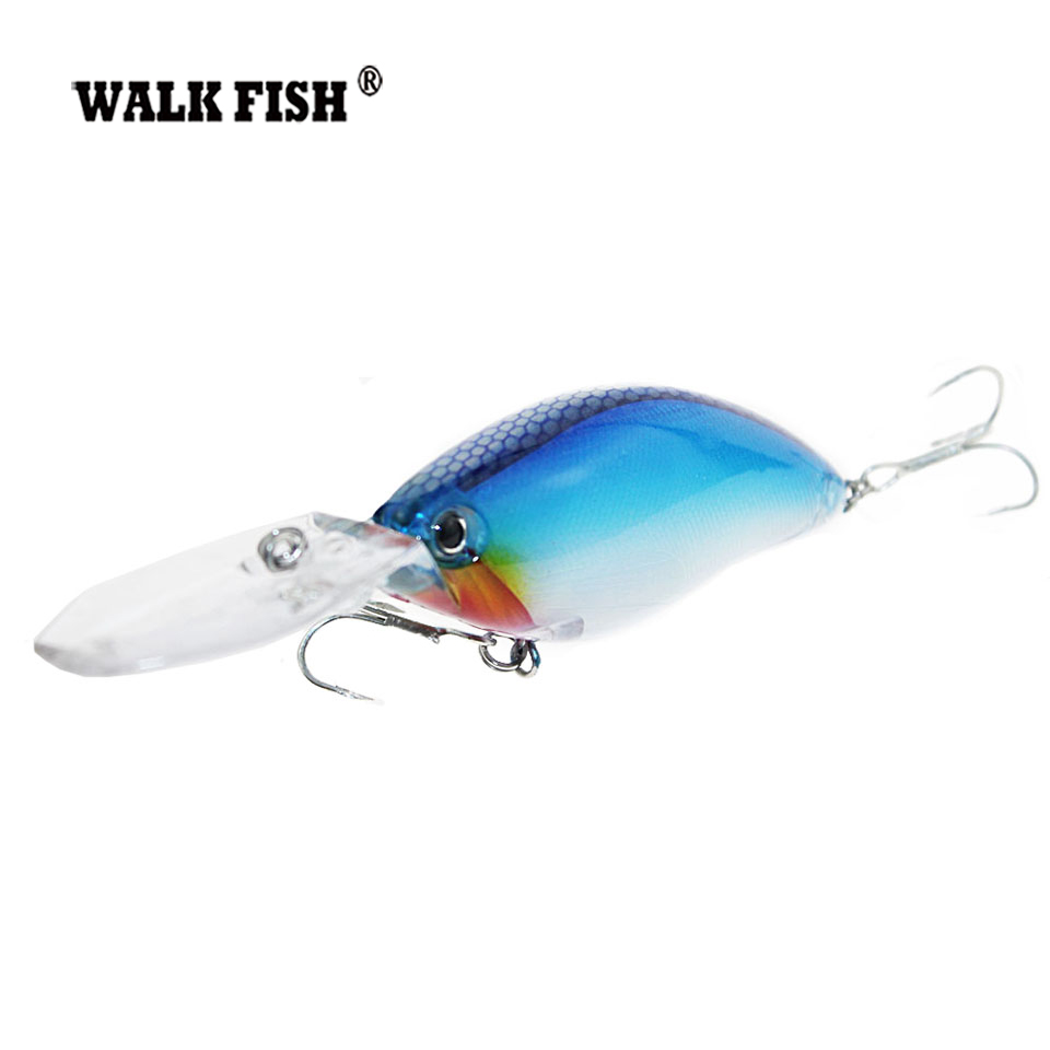 Walk Fish 1Pcs Crankbait Fishing Lures 18g 10.5cm Floating Deep Diving Lifelike Wobblers With 6# Hooks peche isca artificial