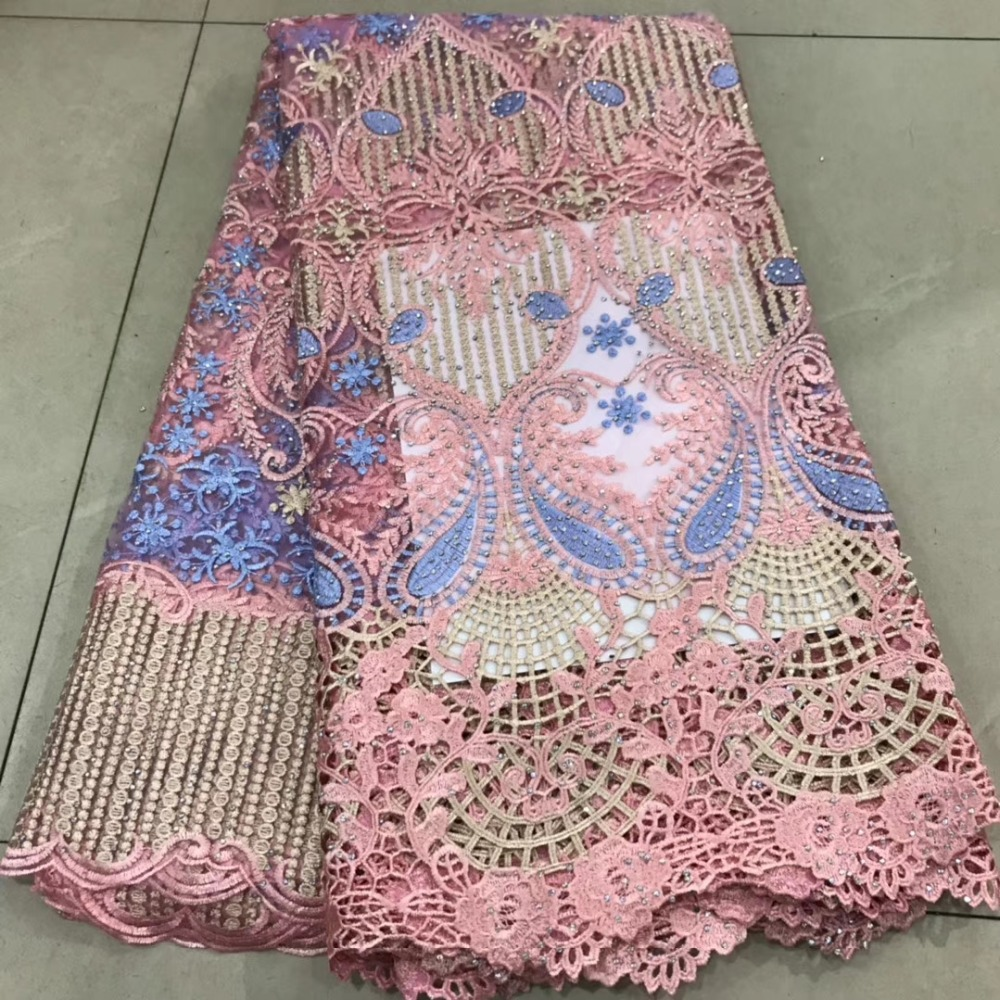 Beautifical african cord lace 2019  high quality guipure lace nigerian lace fabrics for wedding dress  DFMAY093Beautifical african cord lace 2019  high quality guipure lace nigerian lace fabrics for wedding dress  DFMAY093