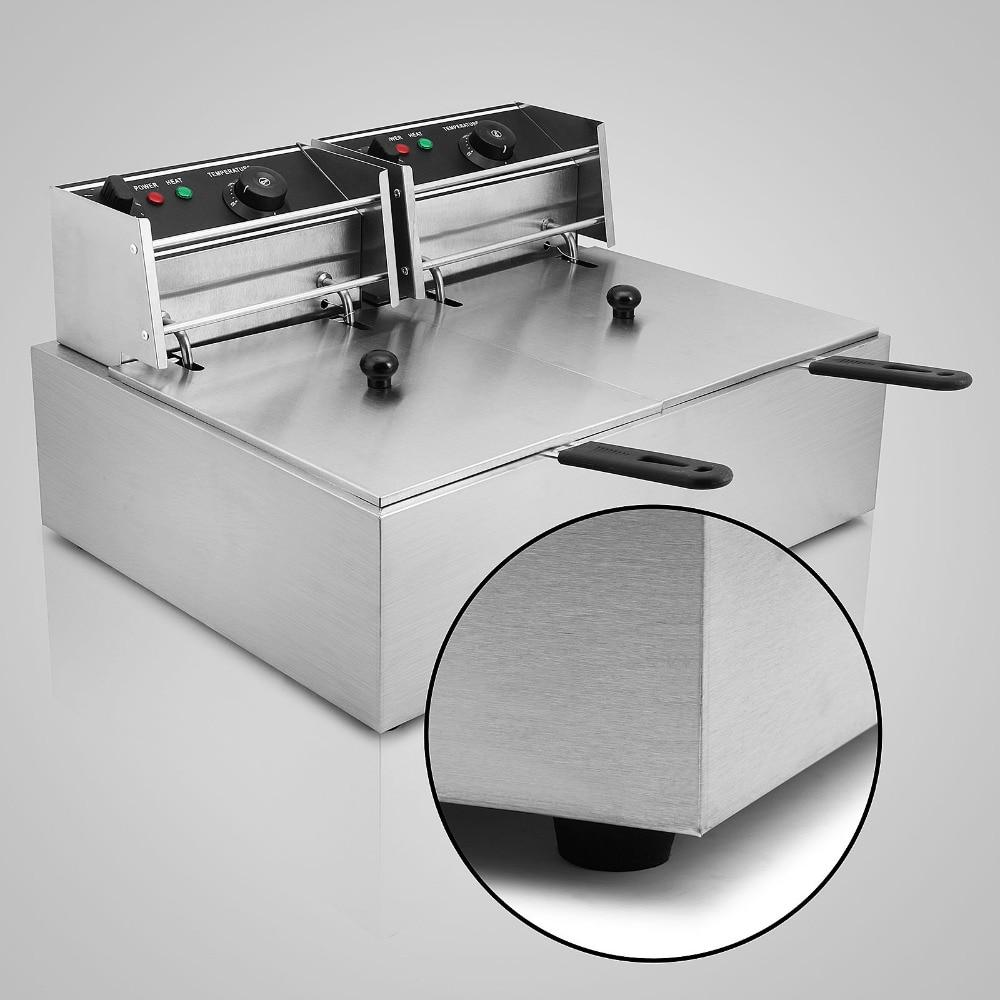 chicken pressure fryer Frying Machine McDonalds Electric Potato Chips Deep Fryer Machine 20L hy81 hy82 6l 12l stainless steel electric deep oil fryer potato chip fryer