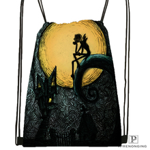 Custom Nightmare before Christmas Drawstring Backpack Bag Cute Daypack Kids Satchel Black Back 31x40cm 180531 03