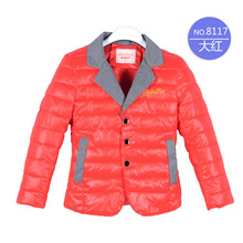 Free delivery 2016 autumn and winter new children's small suit jacket boy's coat down cotton baby coat