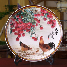 Exquisite Chinese Handmade  Archaistic Famille Rose Porcelain Plate Painted With Birds and Flowers exquisite chinese antique imitation famille rose auspicious porcelain plate painted with peony and birds
