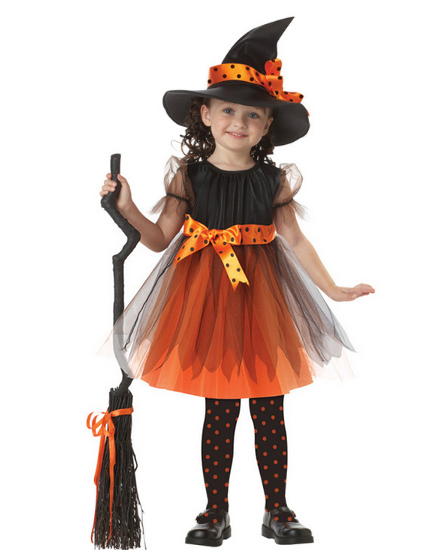 hot party dance halloween costume for kids witch girl anime cosplay carnival girl children christmas fancy - Clearance Halloween Costumes Kids
