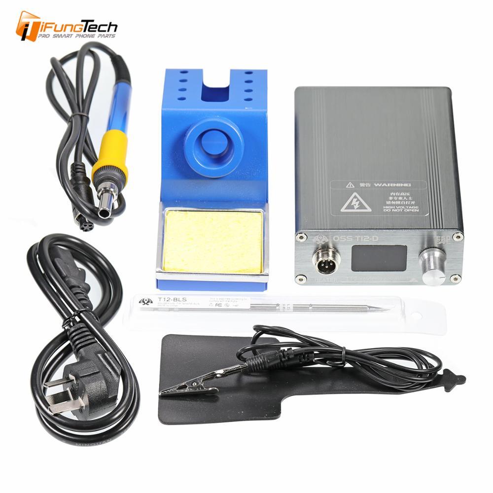 Nouvelle Station de soudage à chauffage rapide électronique STC T12 OLED T12-D à souder numérique