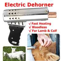 220V 500W Electric Dehorner Cattle Head Dehorner Calf Chamfer Electric Iron Bloodless Calf Lamb Fast Heating Cattle Head Dehorne