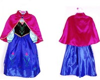 2017 Girls Dress Kids Anna Elsa Dresses For Girls Children Baby Clothing Child Costume Dresses Princess