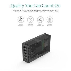 Image 4 - オリコ 5 usb ポート旅行充電器 5V2.4A eu 米国英国プラグデスクトップ充電アダプタ電話タブレット CSL 5U