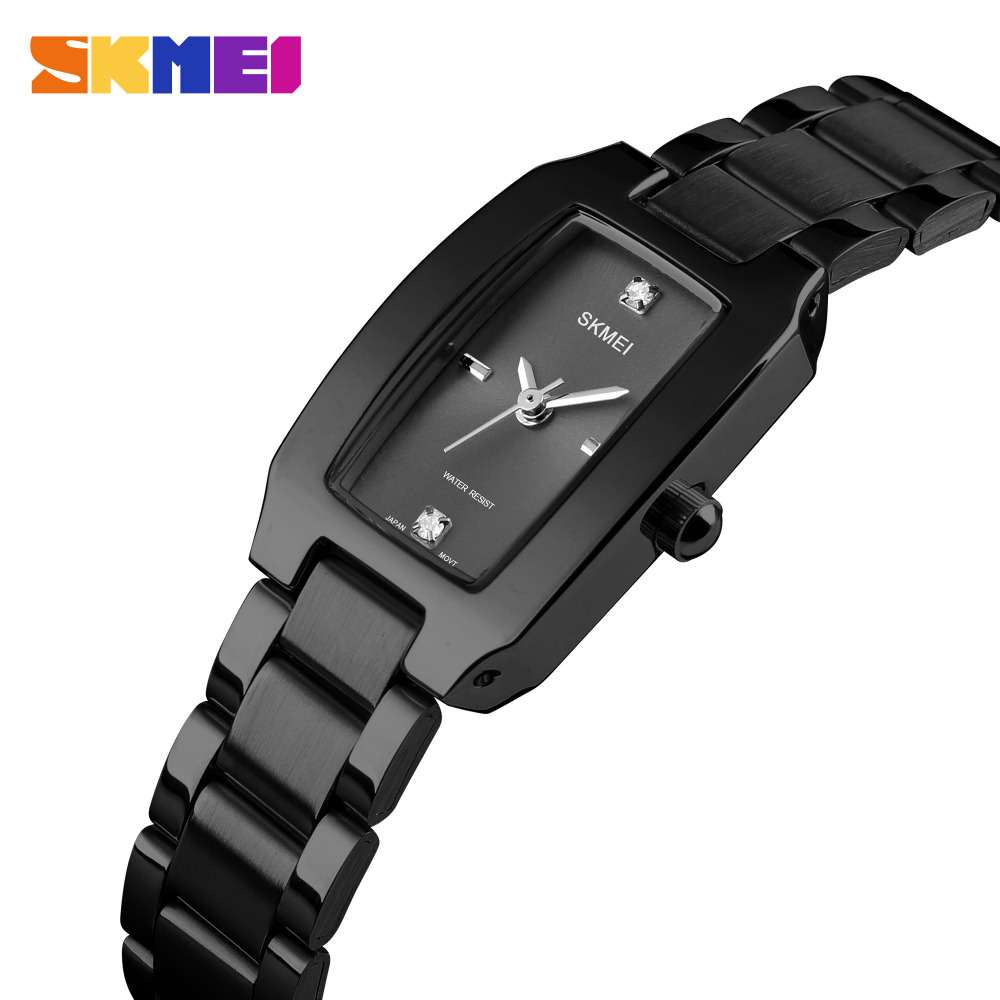 SKMEI Fashion Quartz Ladies Watch Luxury Stainless Steel Women Bracelet Watch Waterproof Brand Women Watches Relogio Feminino