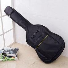Black 40 41 inch Acoustic Classical Guitar Bag Case Backpack Adjustable Shoulder Strap Portable Thicken Padded black hardcase for es jazz falcon 6120 41 acoustic etc