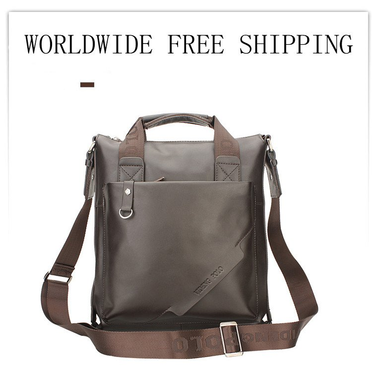 2012 HOT VIDENG POLO men s genuine leather briefcases bag shoulder bag two  colour(black and darkbrown)available-in Briefcases from Luggage   Bags on  ... ef02172e333ff