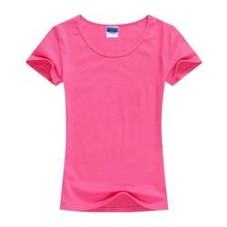 2018 Summer High Quality 15 Color S-2XL Plain T Shirt Women Cotton Elastic Basic Tshirt Woman Casual Tops Short Sleeve T-shirt 3