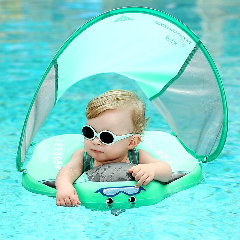 Solide pas de sécurité gonflable pour accessoires bébé anneau de natation flottant anneau de bain flotteur adapté pour 0-2-3-6 ans