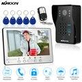 Kkmoon 7 ''wired conjunto visual campainha interfone telefone video da porta monitor de 800x480 700tvl ir ao ar livre câmera de cartão rfid controle remoto