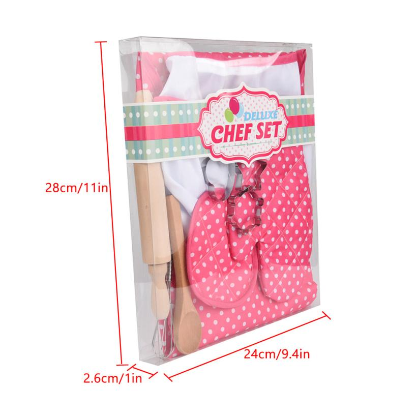 HIINST-Kids-Cooking-And-Baking-Set-11pcs-Kitchen-Costume-Role-Play-Kits-Apron-Hat-funny-toy (1)