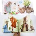 Coelho Atividade Livro do bebê Livro de Pano Brinquedo Educativo 3D Dos Desenhos Animados Animal Macio Curto Pelúcia História Animais Brinquedo Desenvolvimento da Inteligência