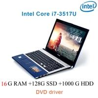 """עבור לבחור 16G RAM 128g SSD 1000g HDD השחור P8-25 i7 3517u 15.6"""" מחשב נייד משחקי מקלדת DVD נהג ושפת OS זמינה עבור לבחור (1)"""
