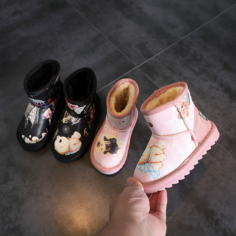 Children Snow Boots Winter New Non-slip Warm Cotton Shoes Cartoon Casual Shoes Fashion Baby Toddler Girl BootsChildren Snow Boots Winter New Non-slip Warm Cotton Shoes Cartoon Casual Shoes Fashion Baby Toddler Girl Boots