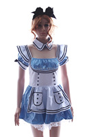 Newest style sexy blue and white janpan maid dress adult house maid cosplay costume M4447