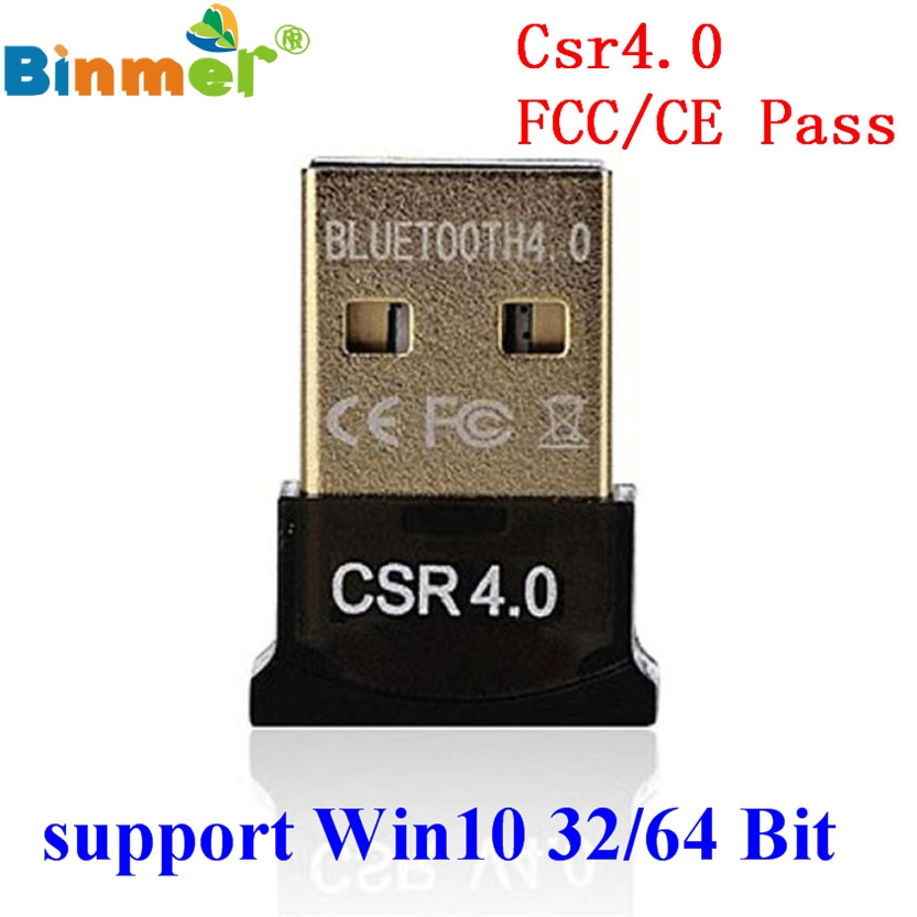 Original Binmer Best USB Bluetooth Dongle 4.0 CSR Dual Mode Wireless Adapters For Windows 10 Laptop PC Good Packge Driver Free