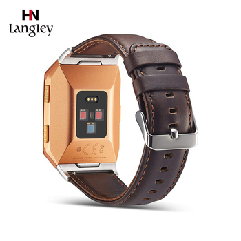 Genuine Leather Watch Straps For Fitbit Ionic Smart Watchbands Watches Accessories Comfortable Breathable Fashion Watch Straps