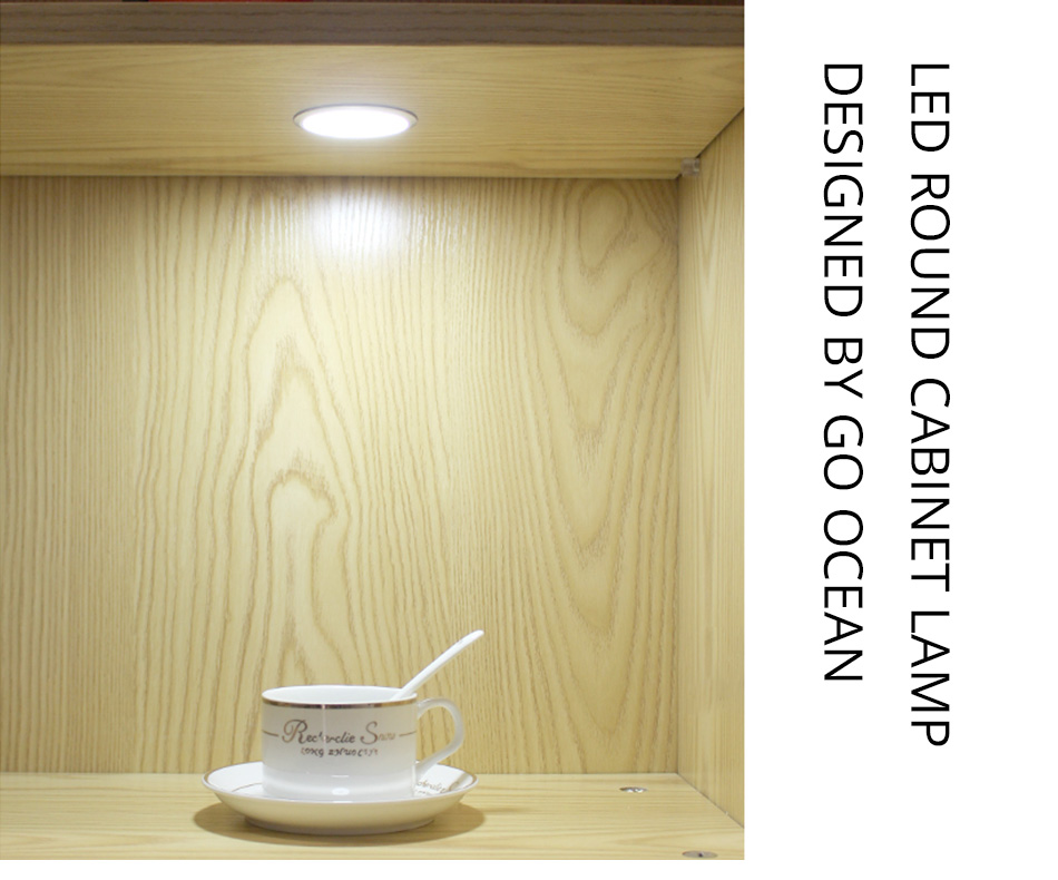 LED Cabinet Lights 12V 3W Kitchen Counter Furniture Shelf Lighting Under Cupboard Wardrobe Furniture Decoration Round Puck Lamps1