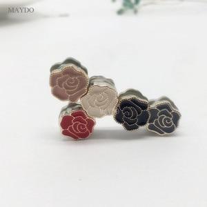 Image 4 - XT165 אופנה קטן גודל פרח סיכות פין צעיף אבזם מתכת מוסלמי בארה ב העבאיה Khimar מגנטי חיג אב צעיף מגנט